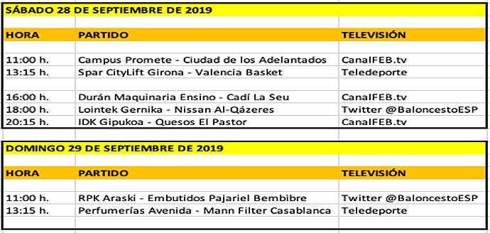 Horarios Open Day 2019